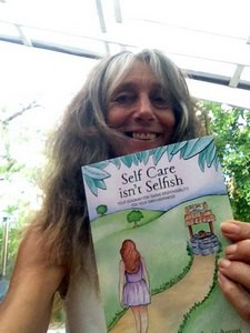Susie with self care book
